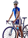 woman triathlon athlete cyclist cycling