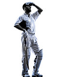 Cricket player  batsman silhouette