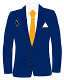 Blue suit and tie