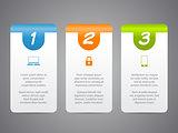 Infographic labels with cool icons and numbers