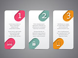 Infographic tags with cool icons and numbers