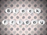 Black Friday text on speech bubbles