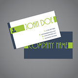 Simplistic two sided business card