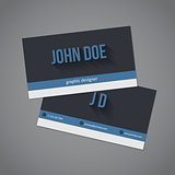 Dark and light stripes business card set