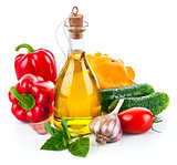 Fresh vegetable with olive oil