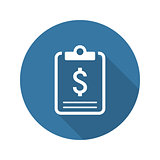 Business Plan Icon. Concept. Flat Design. Long Shadow.