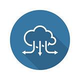 Accelerate Your Cloud Icon. Business Concept. Flat Design. Long