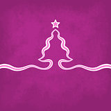 Violet Christmas Background