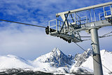 Ski lift on winter resort