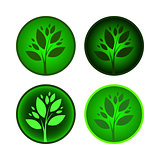 Set of tree icons.