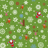 Christmas seamless pattern with Santa and others