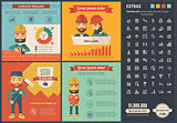 Construction flat design Infographic Template