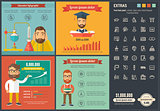 Education flat design Infographic Template