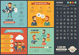 Social Media flat design Infographic Template
