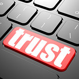 Keyboard with trust text