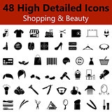 Shopping and Beauty Smooth Icons