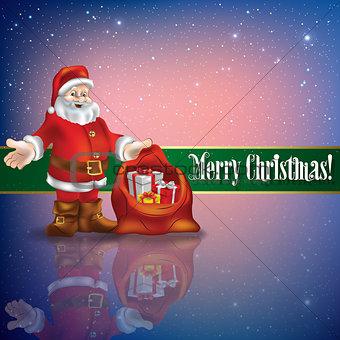 celebration greeting with Santa Claus