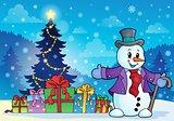 Christmas snowman theme image 6