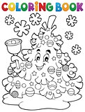 Coloring book Christmas tree topic 2