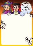 Frame with Halloween characters topic 2