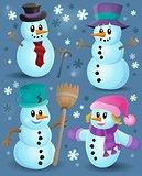 Snowmen theme collection 1