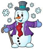 Winter snowman topic image 1
