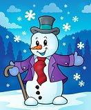 Winter snowman topic image 2