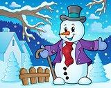 Winter snowman topic image 3