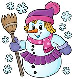 Winter snowwoman topic image 1