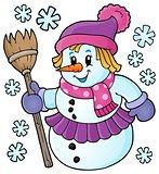 Winter snowwoman topic image 1