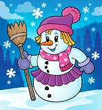 Winter snowwoman topic image 2