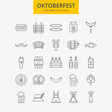 Line Oktoberfest Icons Big Set