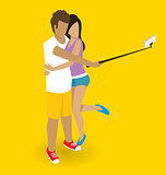 Couple Making Selfie