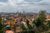 Beautiful panorama of Rome