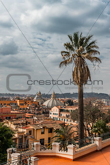 Beautiful panorama of Rome