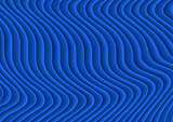 Blue Striped 3D Texture