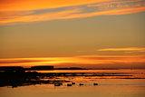 Sunset near Reykjavik