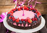 Delicious raspberry cheesecake