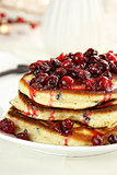 Pancakes and Cranberry Syrup