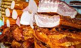 Ham at a market