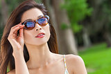 Beautiful Chinese Asian Young Woman Girl in Sunglasses