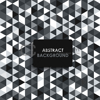 Abstract black and white background with a triangular pattern