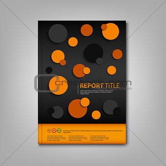 Brochures book or flyer with abstract circles design template