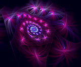 Abstract fractal spiral image