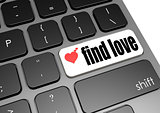 Find love black keyboard