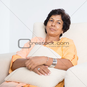 Tired Indian mature woman