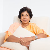 Indian mature woman portrait