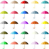 Multiple Colored Umbrella