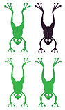 cartoon frog silhouette