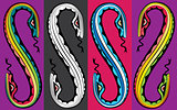 cartoon snake bodies connected together